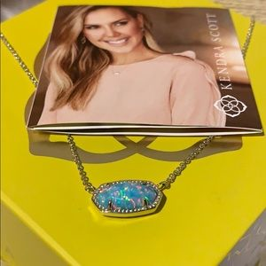 Kendra Scott Elisa Kyocera opal aqua new! Necklace